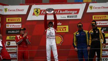 Podium Coppa Shell race 2, Giosu Rizzuto (ITA), Ferrari Challenge Shell,Motor Malucelli, David Gostner (ITA), Ferrari Challenge Shell, Ineco/MP, Andrii Lebed (UKR), Ferrari Challenge Shell,Team Ukraine, Enrich Prinoth (ITA) Vincenzo Sauto (ITA)Team Ineco MP